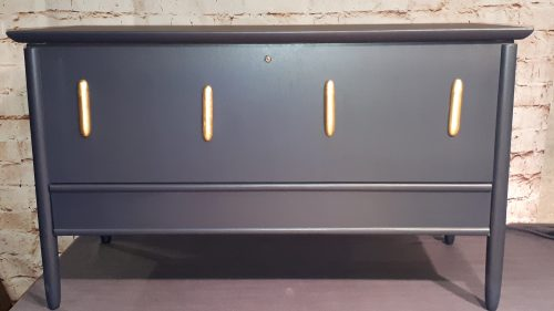 painted cedar chest with drawer