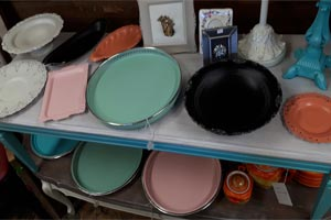 painted vanity trays