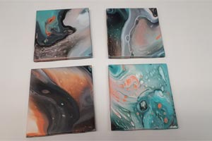 acrylic pour coasters
