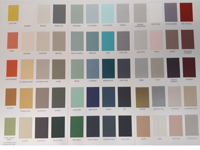 Fusion Mineral Paint color chart